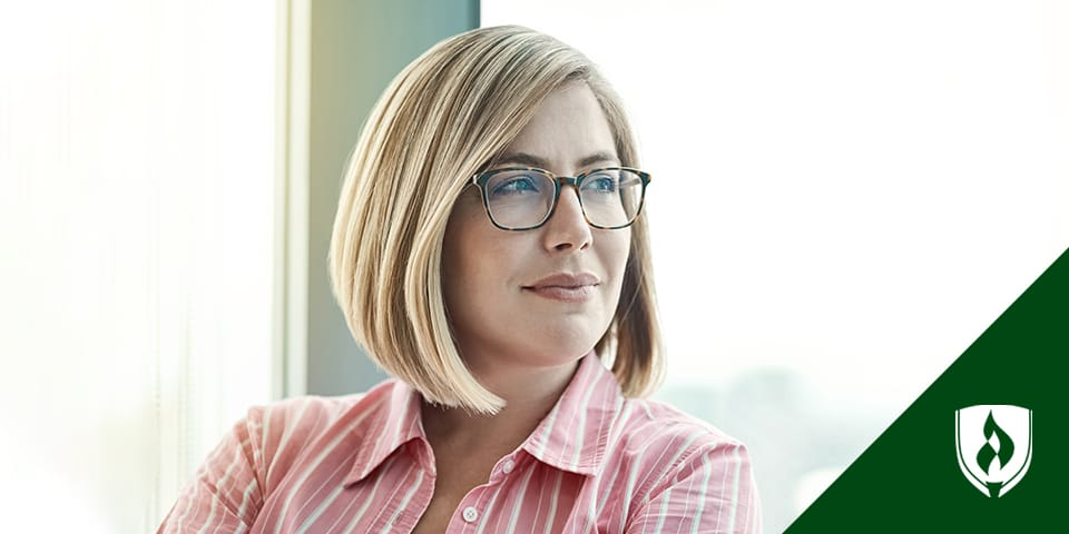 Female wearing glasses