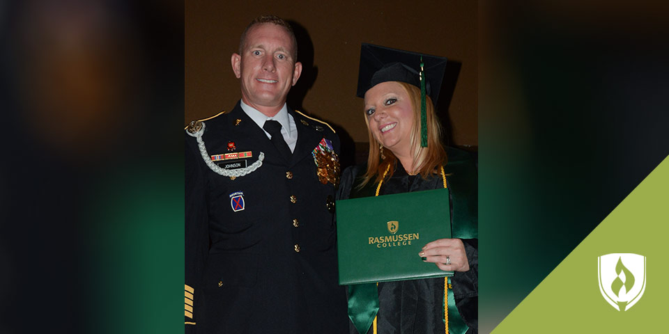 female graduate, Sherry Johnson