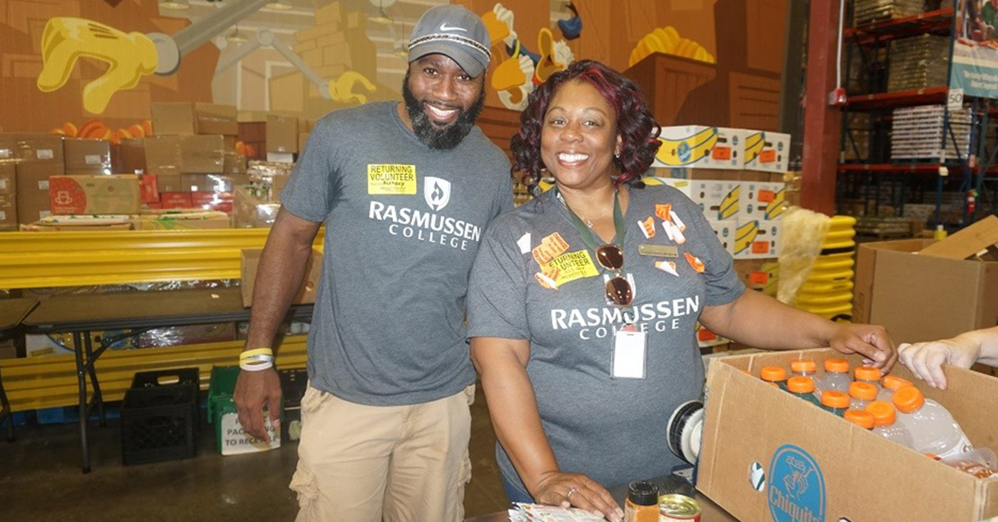 Rasmussen College Community service day at Second Harvest Food Bank