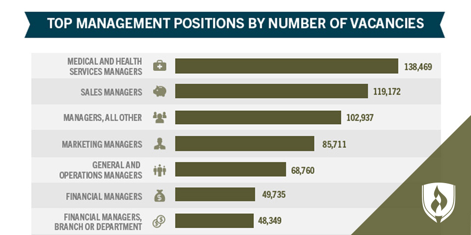 illustrated chart of management vacancies