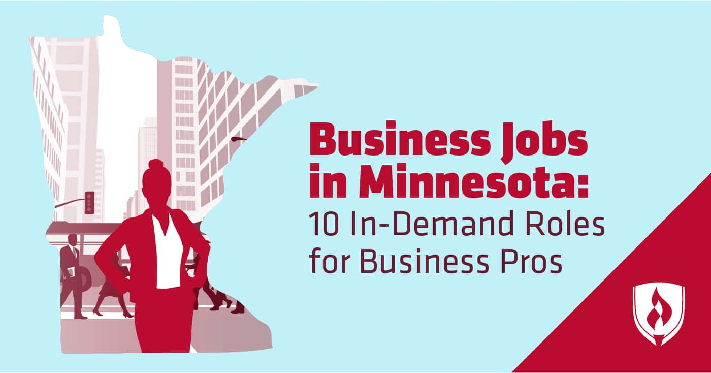 female business pro in shape of minnesota