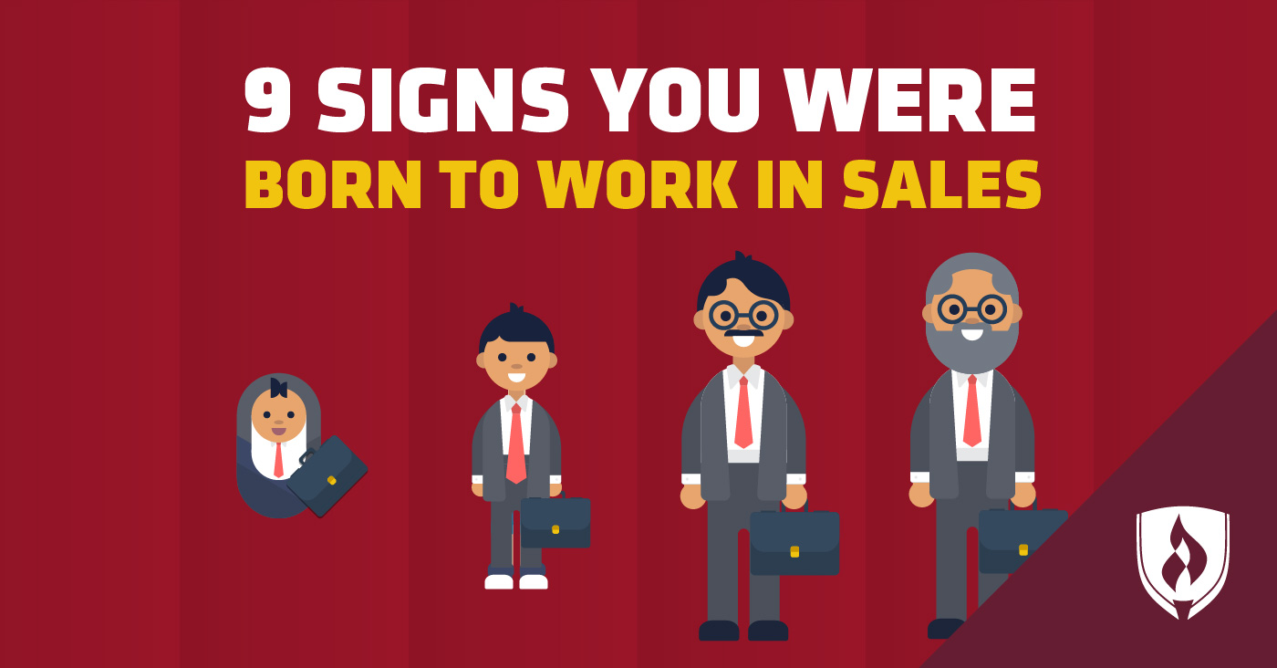Born to work in sales