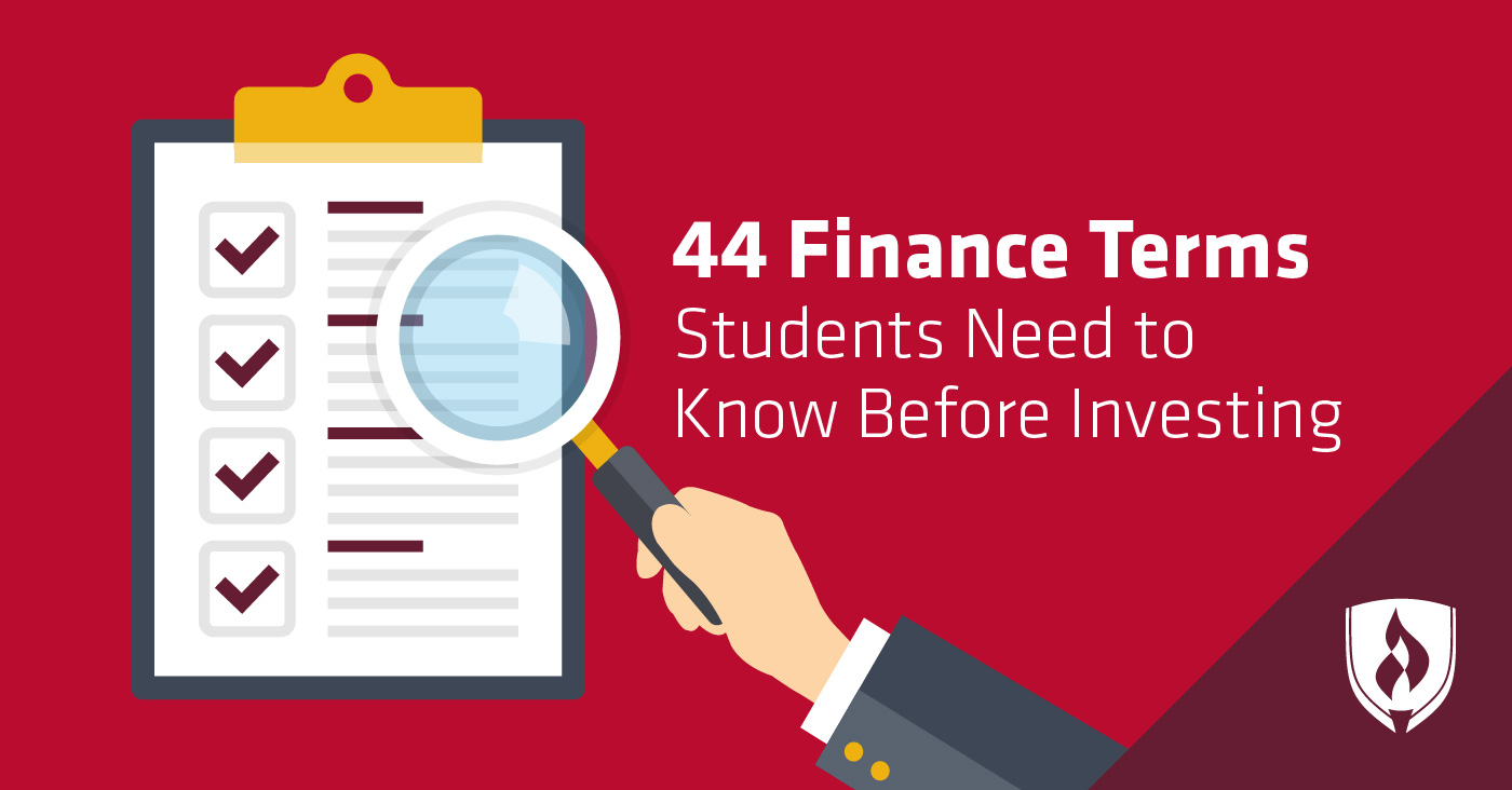 Finance terms for student investors
