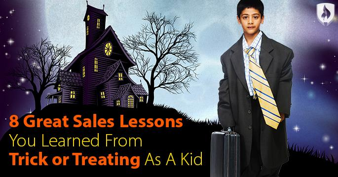 Sales lessons from trick or treating
