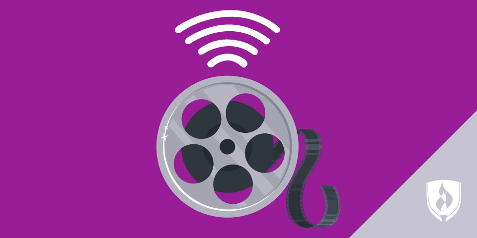 Film reel with wifi symbol