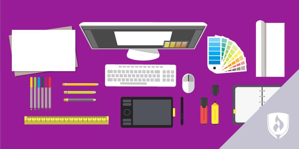 illustration of computer and animation tools