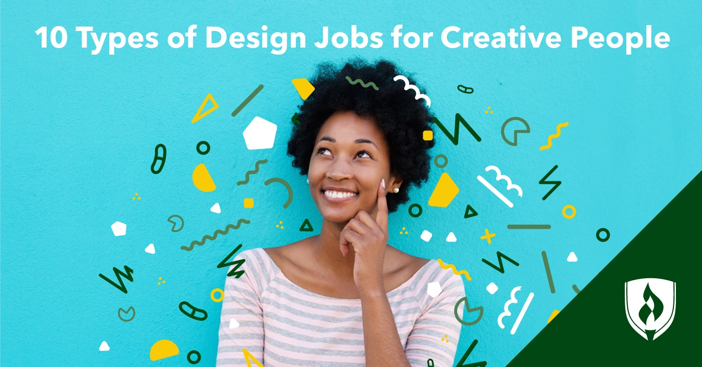 woman considering design jobs for creative people