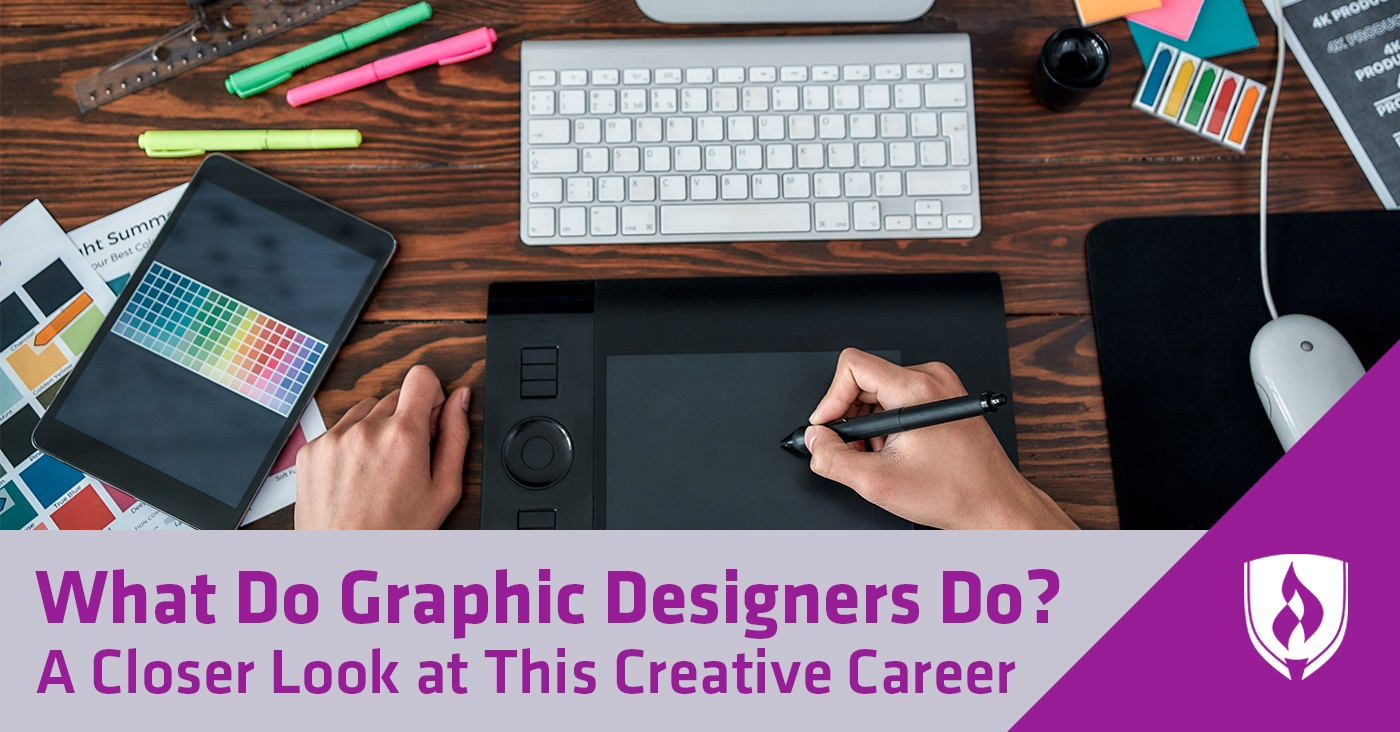 graphic designer drawing with a computer pen