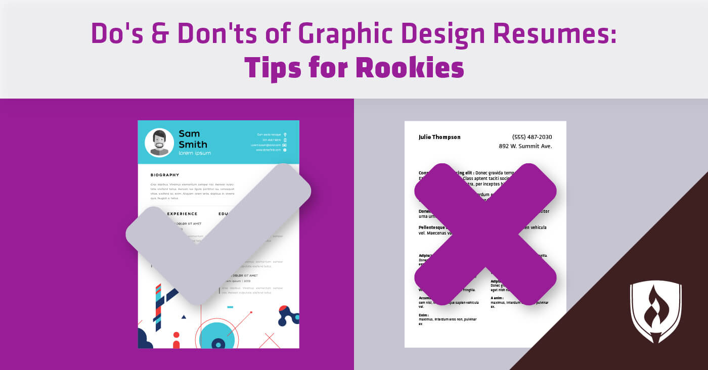 do u0026 39 s  u0026 don u0026 39 ts of graphic design resumes  tips for rookies