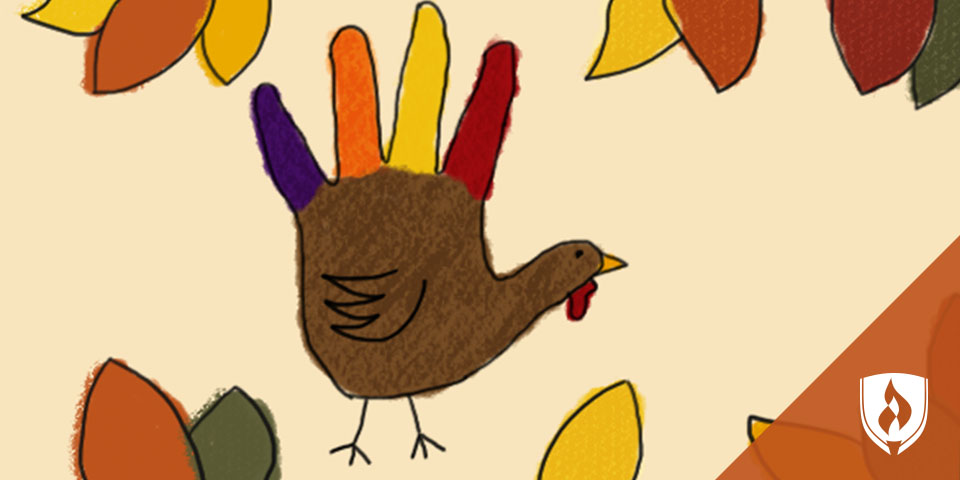 illustrated hand turkey