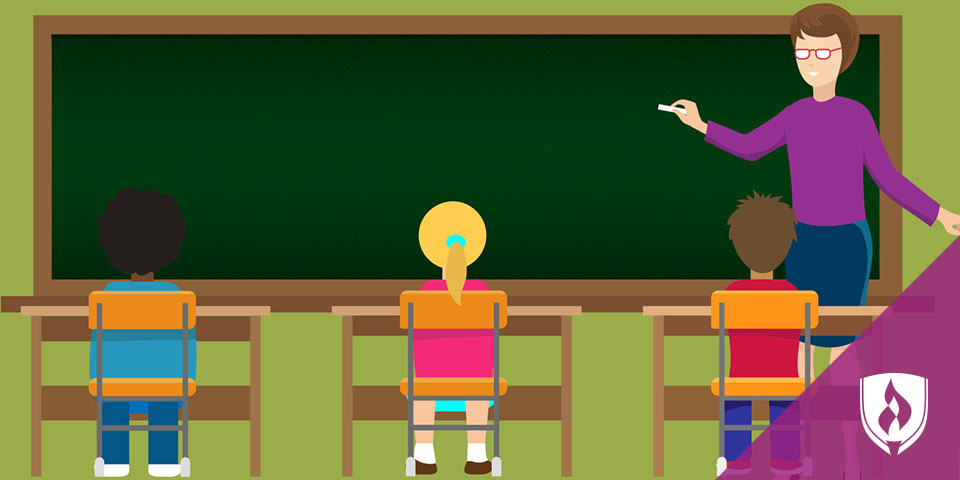 illustrated classroom scene