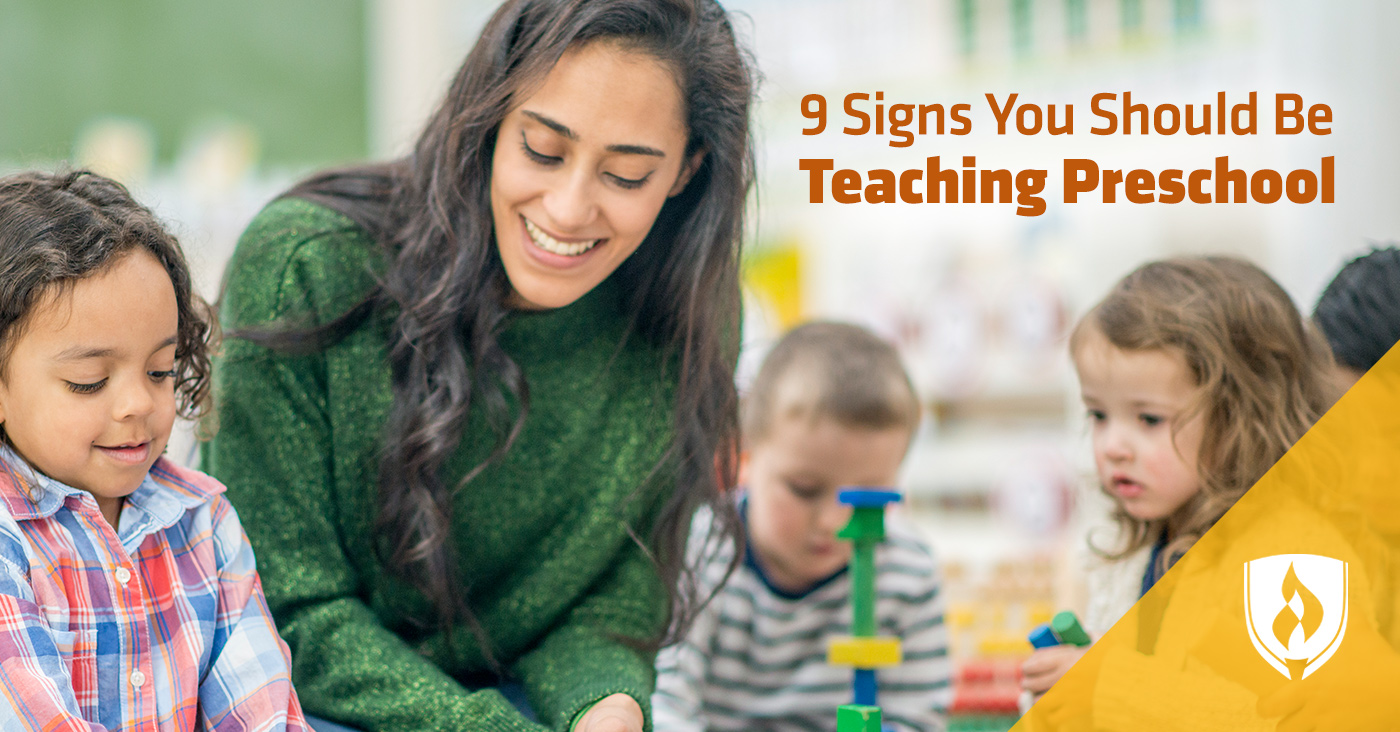 signs you should be teaching preschool