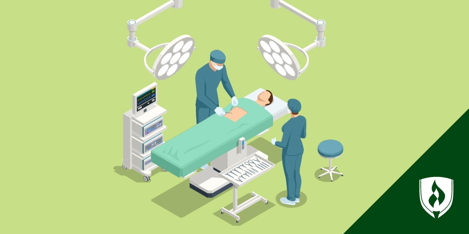 image of surgical tech equipment, tweezer, scissors, scalpel