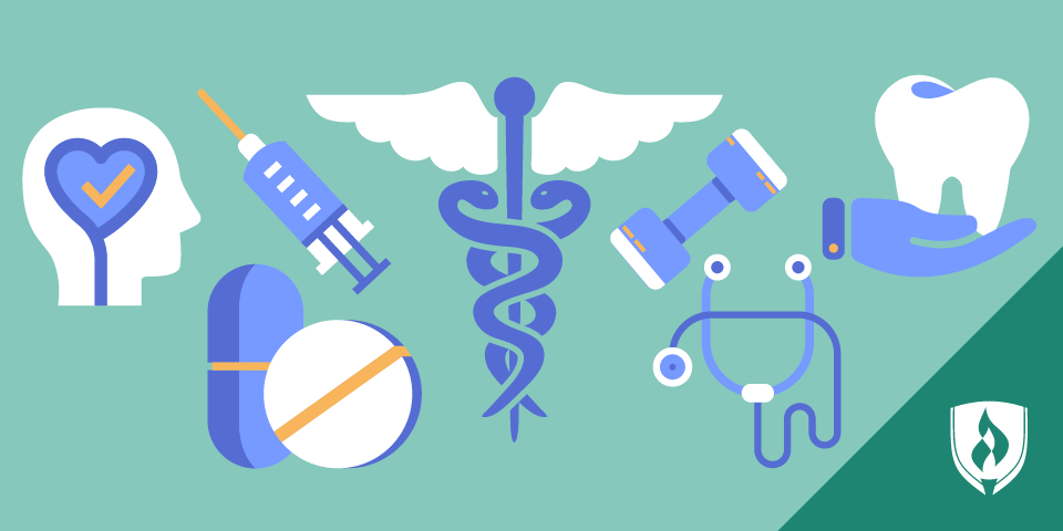 Illustrated healthcare icons