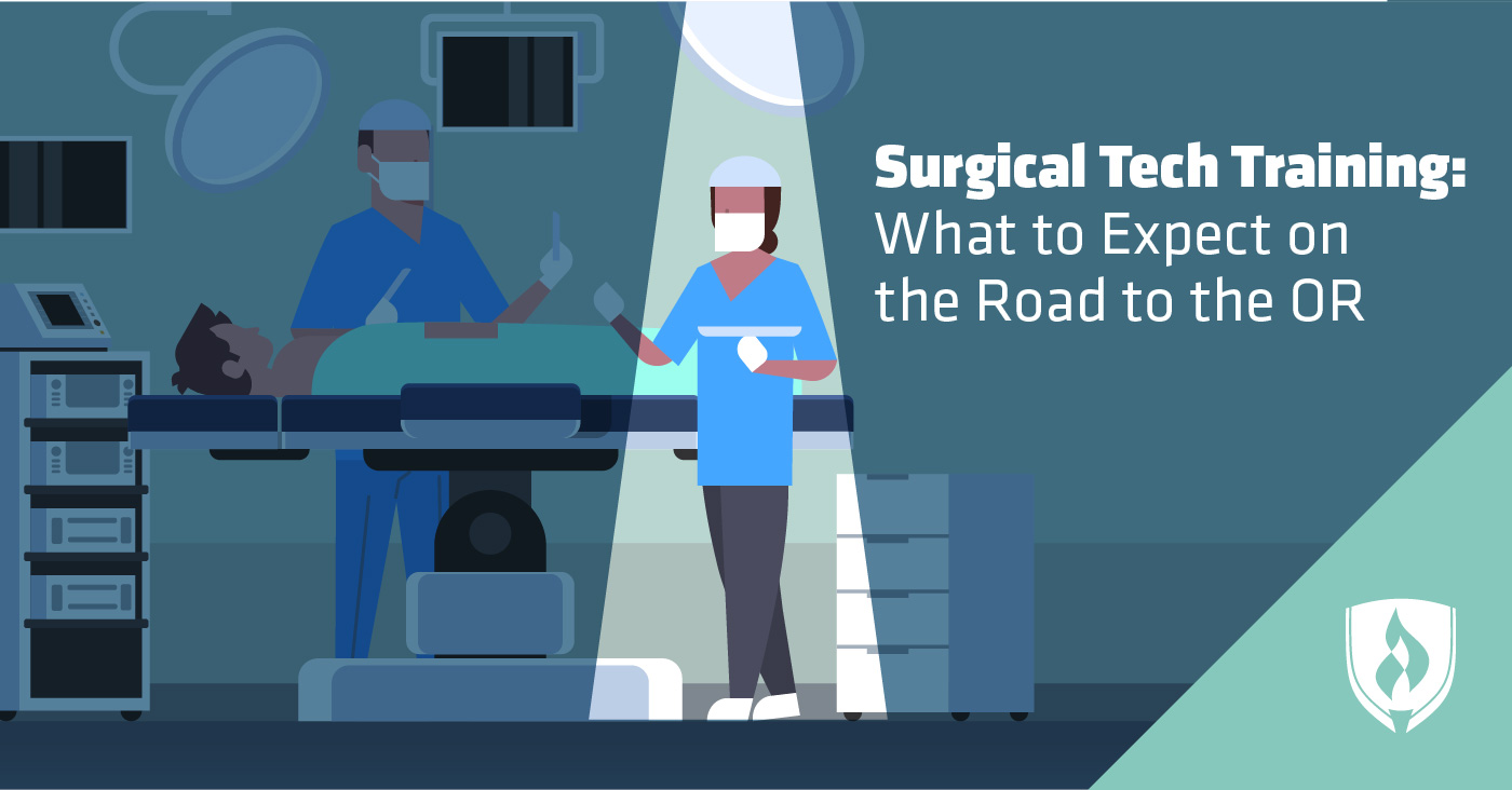 illustration of surgical tech in operating room
