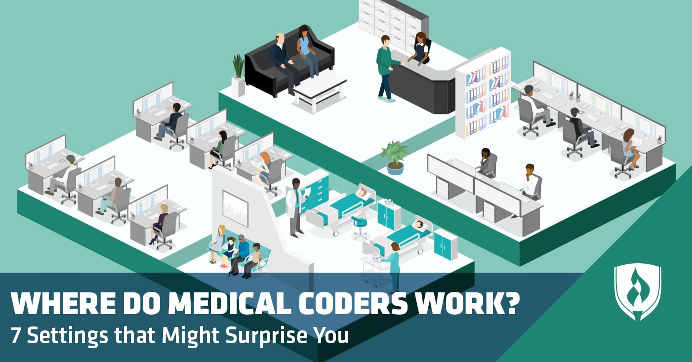 Medical coders in office setting