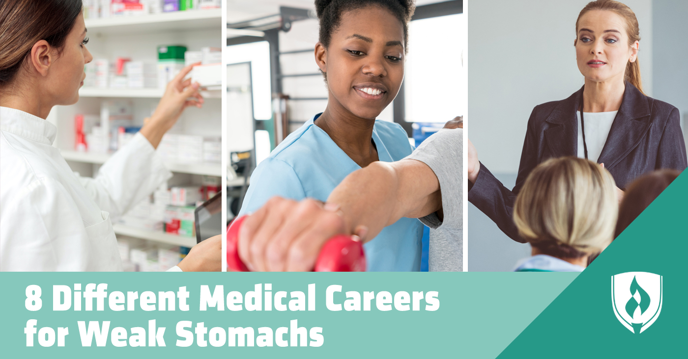 different medical careers for weak stomachs
