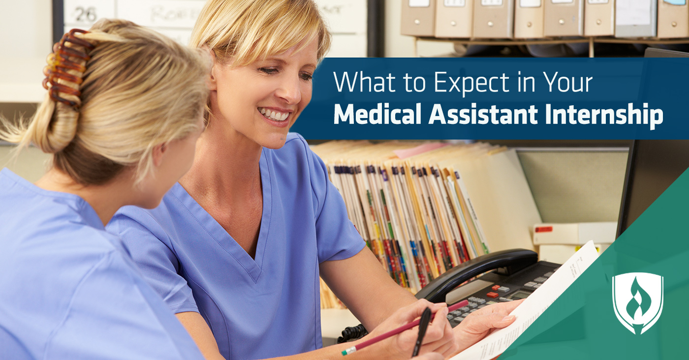 female medical assistant training intern female student