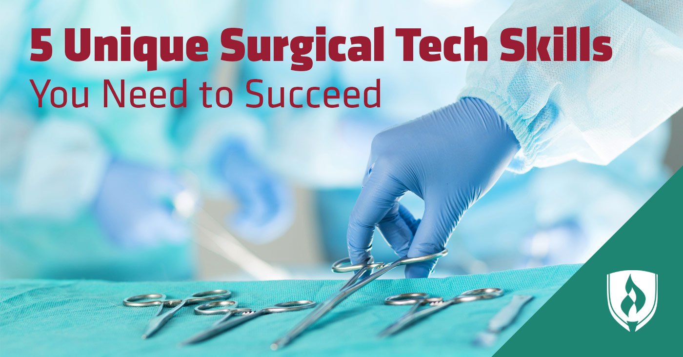 hand in a medical glove grabbing a surgical scissors surgical tech skills