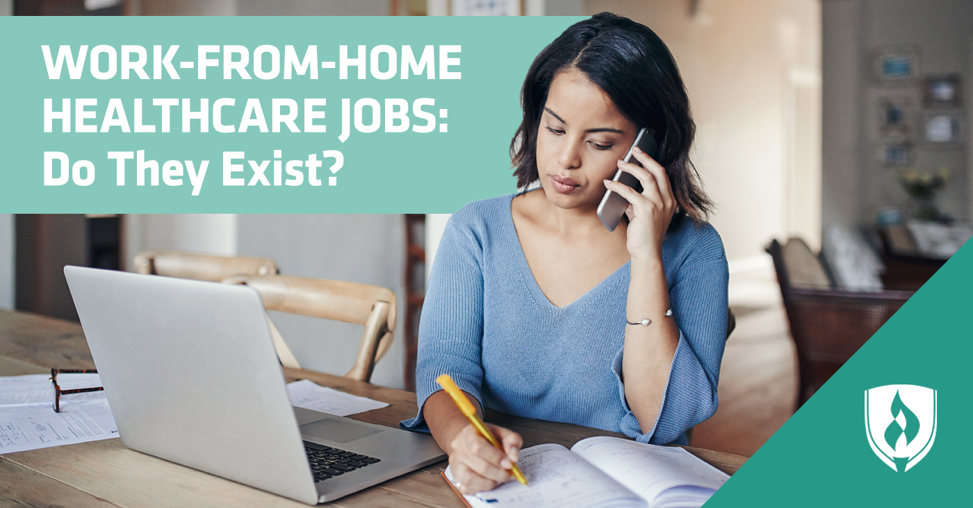 Woman working from home while on the phone