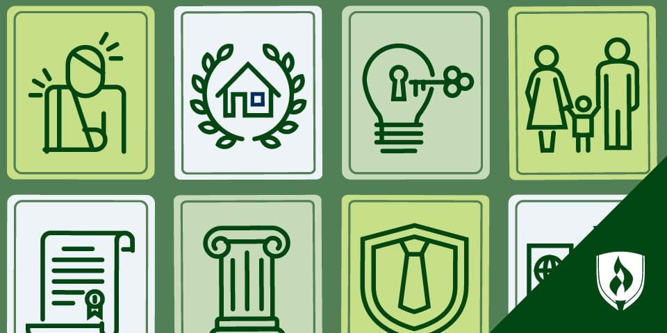 illustration of different paralegal field icons
