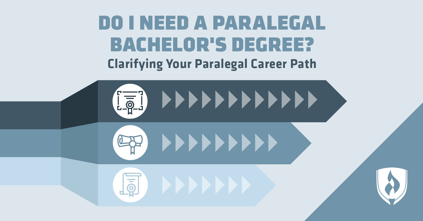 three paths with paralegal icons