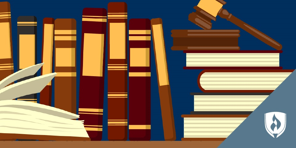 illustration of stacks of law books