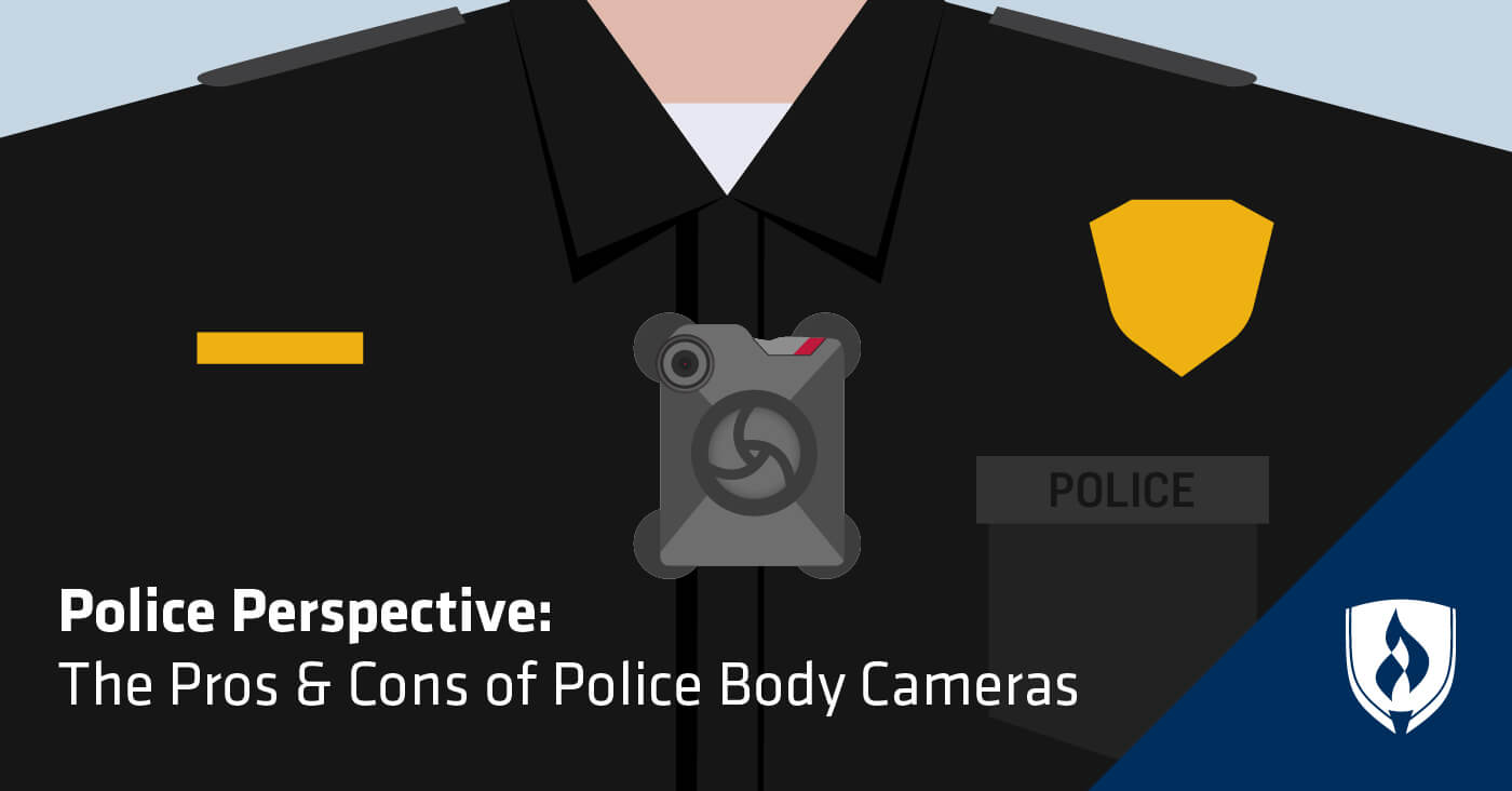illustration of office with body camera