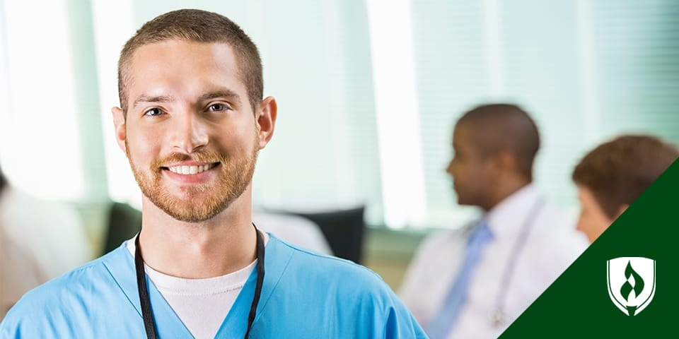 male nurse in scrubs