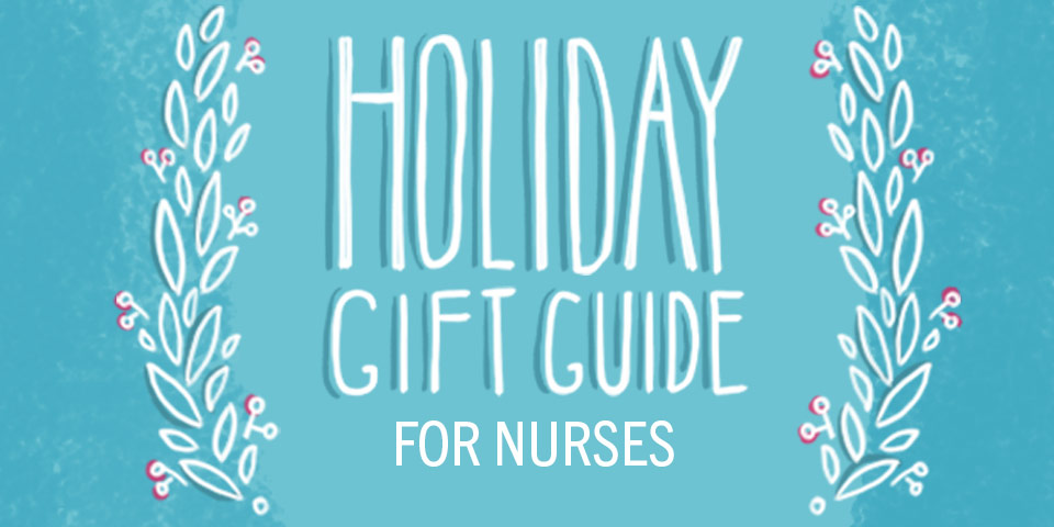 wreath and holiday gift guide text