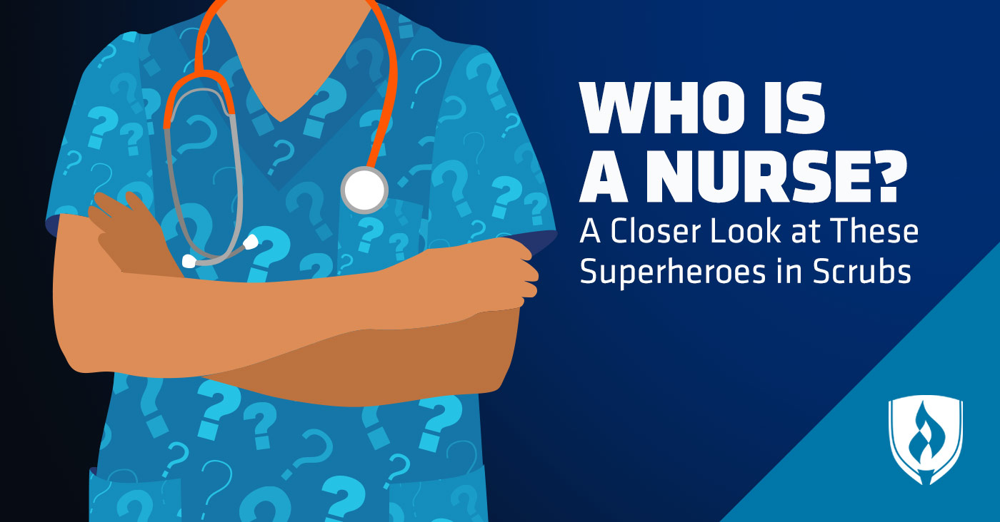 illustrated nurse with question marks on scrubs