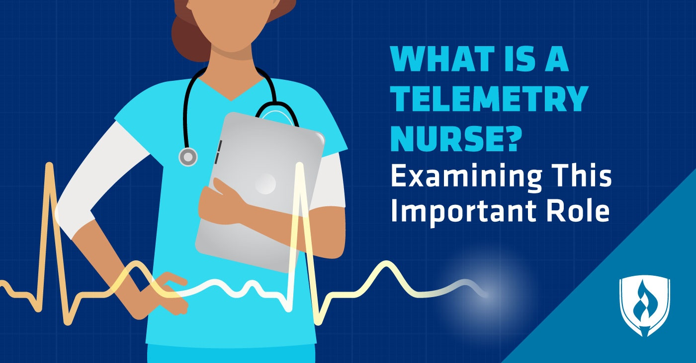 telemetry nurse with tablet and stethoscope reading a electrocardiogram rhythm