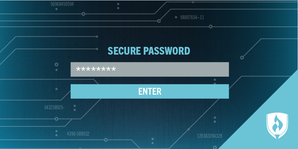 illustration of secure password log in