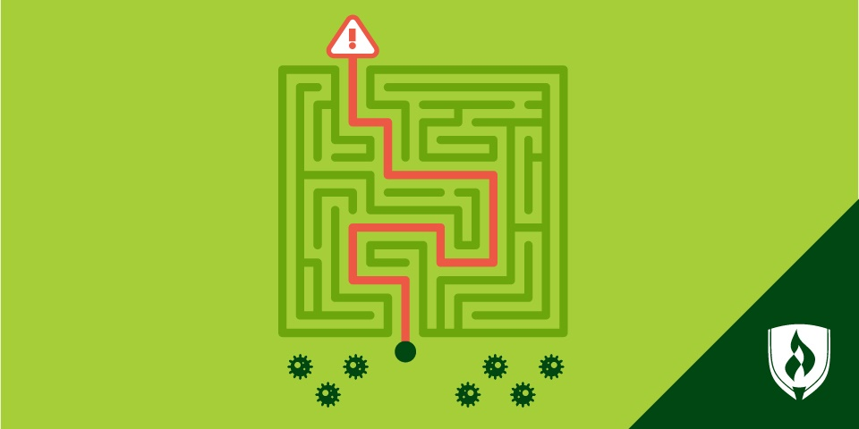 illlustration of a techy maze representing penetration testing