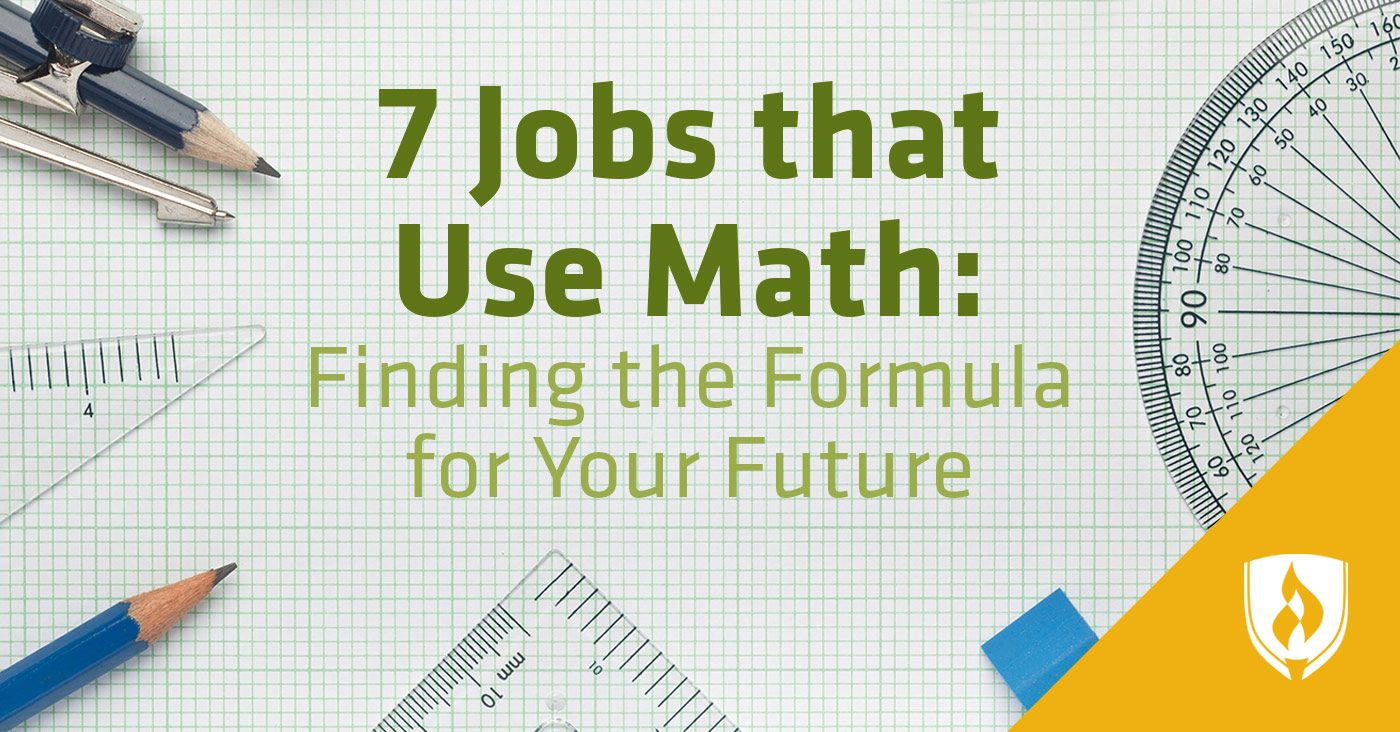 Jobs that use math
