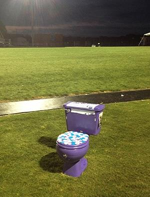 Last man standing at Relay for Life event is purple toilet
