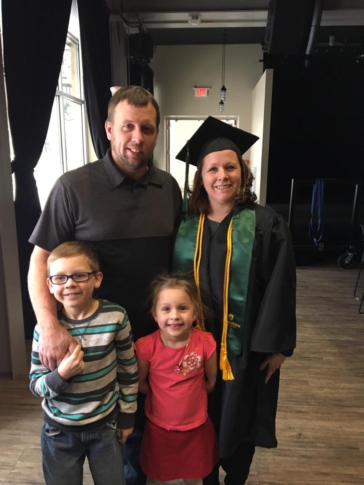 Rasmussen College Web Programming Graduate with Family