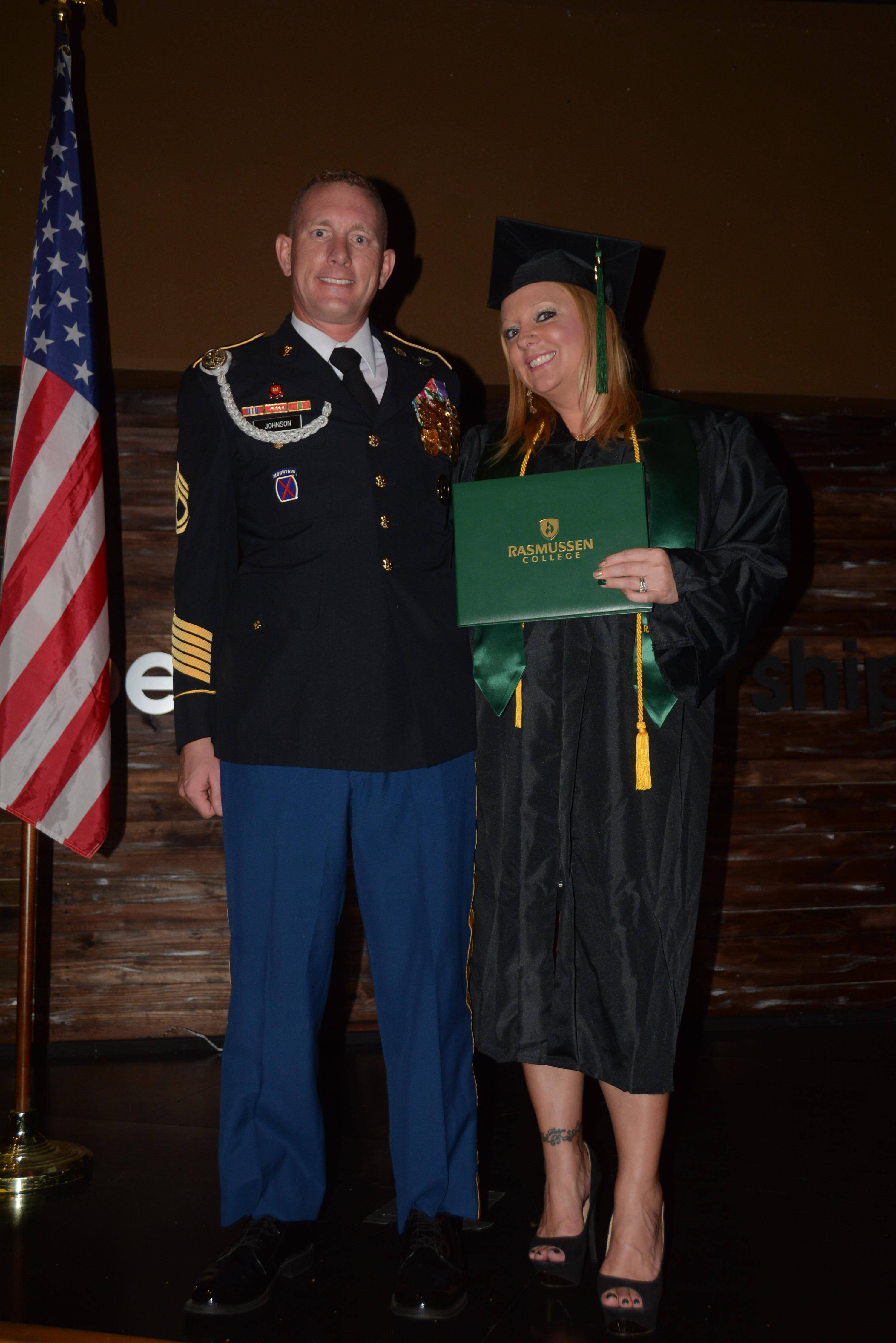 Tampa/Brandon Graduate Sherry Johnson and Her Husband