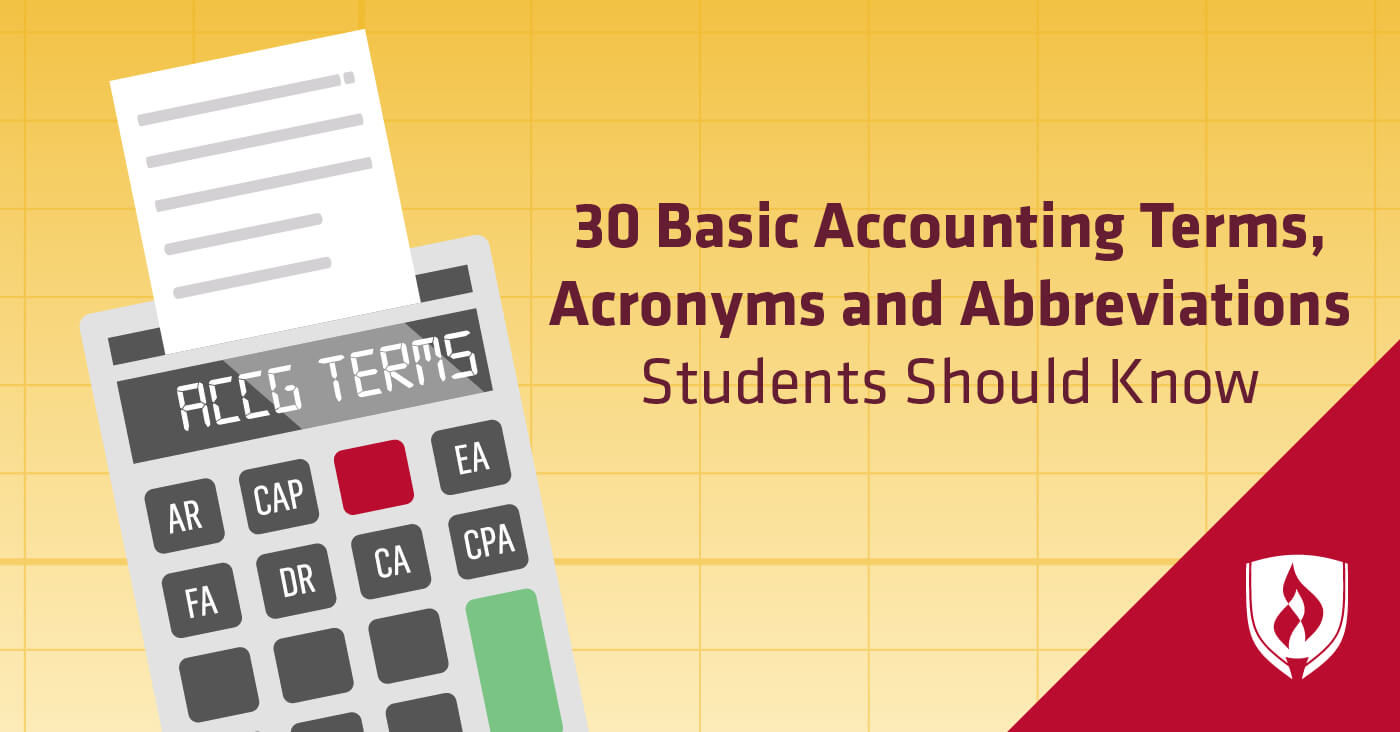 30 Basic Accounting Terms, Acronyms and Abbreviations Students ...