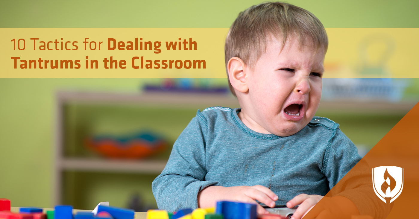 dealing with tantrums in the classroom