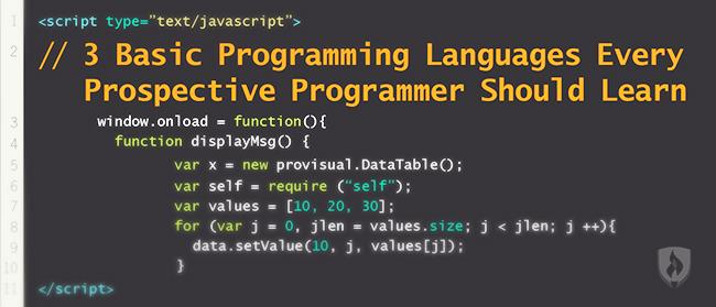 3 basic programming languages every prospective programmer