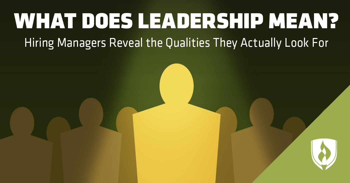 What does leadership mean to you ?